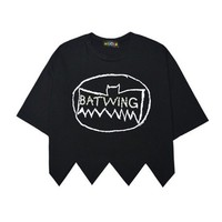 Punk Style Rock & Roll Letter Print Rivet Bare-midriff T-shirt