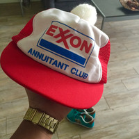 Vintage Baseball Hat Snap back unisex Vintage Exxon Hat Cap men women retro urban Accessories