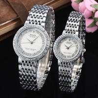 8DESS ROLEX Lover Couple Fashion Quartz Movement Wristwatch Watch