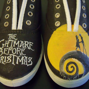 Custom Painted Nightmare Before Christmas Shoes