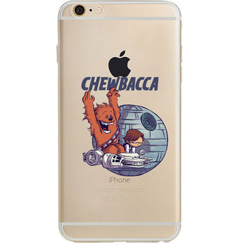 Star Wars Chewbacca Jelly Clear Case for Apple iPhone 6 6s (4.7