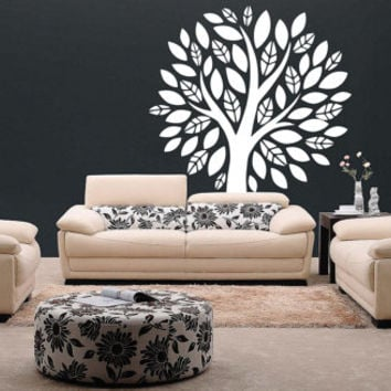 Huge Big Tree With Leaves Vinyl Decal Wall Sticker Furniture Rem