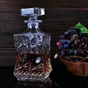 Square Decorative Glass Decanter (500mL or 800mL)