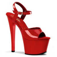 Red Ankle Strap Sandal Stripper Shoes