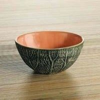 Ceramic Cantaloupe Breakfast Fruit Bowl 5.25W