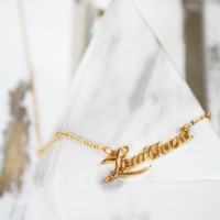 louisiana cursive necklace