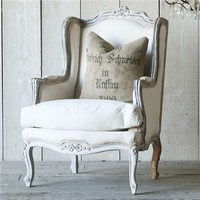 Eloquence One of a Kind Vintage Bergere Louis XV Chalky Gray