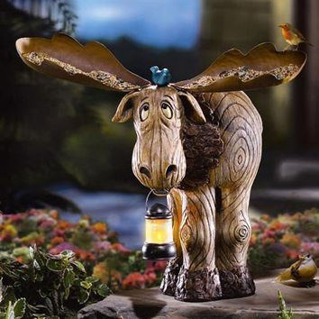 Bruce The Moose Bird Feeder And Lantern from Collections Etc.
