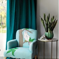 Treescape Dorrance Chair by Anthropologie in Blue Motif Size: One Size Furniture