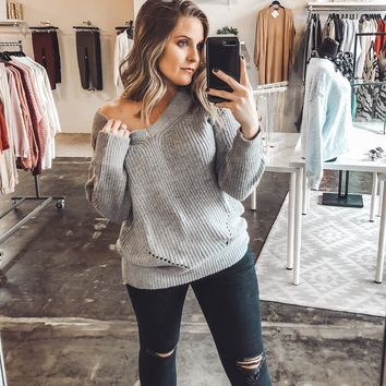 Carrington Dropped Shoulder Sweater
