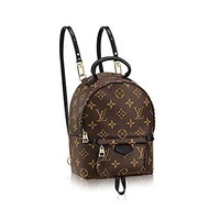 Authentic Louis Vuitton Monogram Canvas Palm Springs Backpack Mini Handbag Article: M41562 Made in France