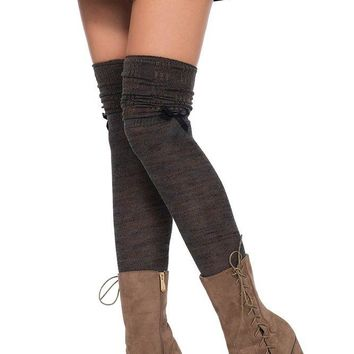 Marled Over the Knee Scrunch Socks in OS