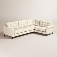 Textured Woven Bryson Left-Facing Upholstered Sectional