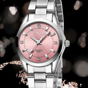 2017 new brand watch female fashion bracelet watch waterproof Watch Luxury Diamond simple gift clock Fashion girls watch