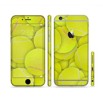 The Tennis Ball Overlay Sectioned Skin Series for the Apple iPhone 6 Plus