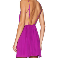 Rory Beca Marlen Backless Dress in Fuchsia