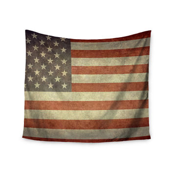 "Bruce Stanfield ""Flag of US Retro"" Rustic Wall Tapestry"