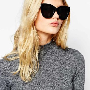 Quay Australia Sugar & Spice Mirror Cat Eye Sunglasses at asos.com