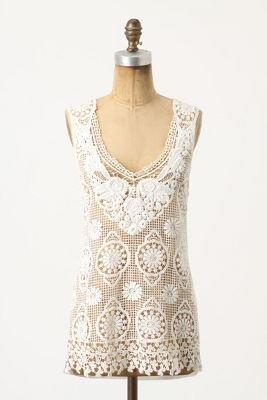 Lace Medallions Tank - Anthropologie.com