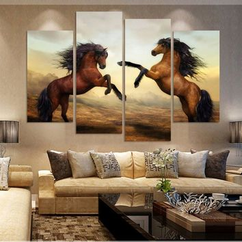 Prind Framed modern living room bedroom wall decor home decoration horse canvas painting wall art print Painting picture /PT0071