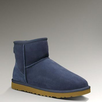 UGG Women Fashion Wool Snow Boots Blue