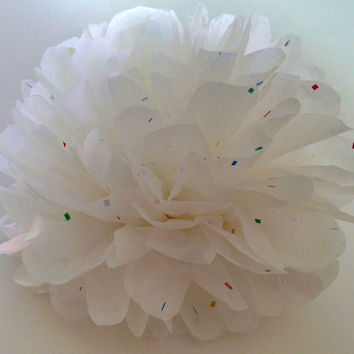18 inch large White Sparkle pom,party poms,birthday pompoms,Firstbirthday,baby shower,hanging poms,nursery pom pom,pompoms,party decorations