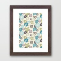 A Walk on the Beach Framed Art Print by Noonday Design | Society6