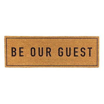 Be Our Guest Coir Door Mat