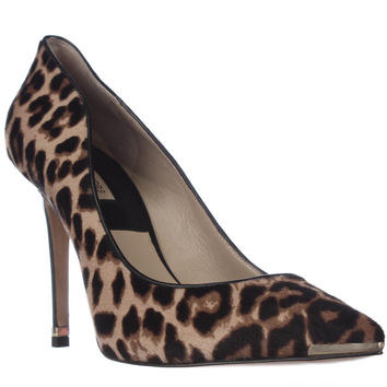 MICHAEL Michael Kors Avra Pointed Toe Pumps - Tan Luggage Leopard