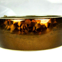 Vintage Brown Hinged Bracelet
