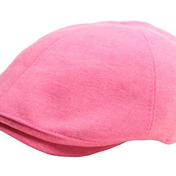 N269 Wool Soft Comfortable Style Newsboy Cap Cabbie Flat Golf Gatsby Driving Hat (Pink)