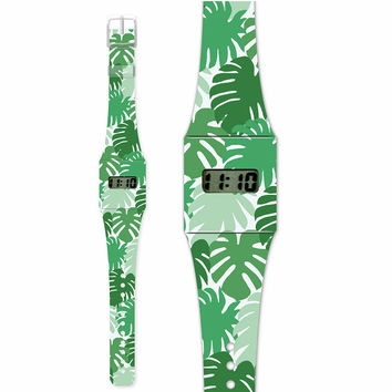 Fashion Pappwatch Made of Paper - Green Jungle