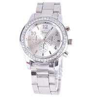 Women's Geneva Stainless Steel Watch