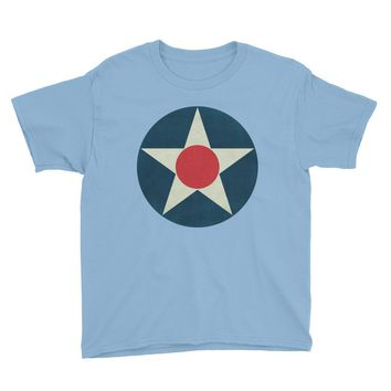 WW1 Air Corps Roundel Youth Short Sleeve T-Shirt