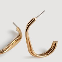 Metal pendant earrings - Women | MANGO USA