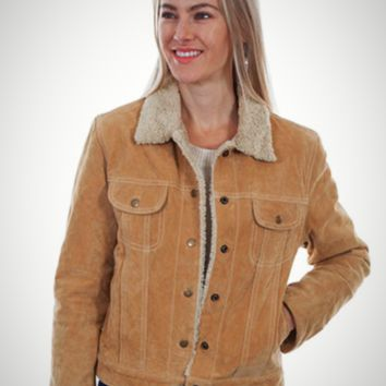 Scully Faux Shearling Jacket~ Old Rust