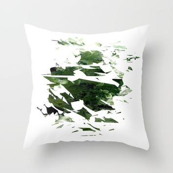 Abstract Acrylic Painting Broken Glass THE FOREST --Modern art Throw Pillow by Saribelle Inspirational Art | Society6