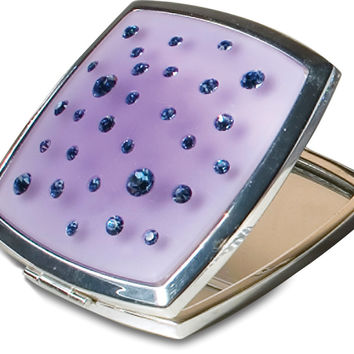 Violet Square - Pink Compact Mirror