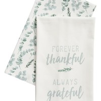 Levtex Forever Thankful, Always Grateful Set of 2 Dishtowels | Nordstrom