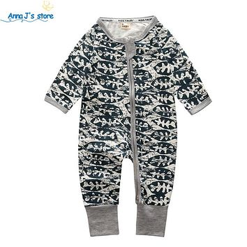 Newborn Baby Coverall fall baby girls boys clothing Cute printing Newborn Boy clothes set romper