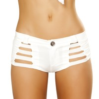 Roma Costume 4870 Button Front Shorts with Strap Detail