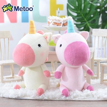 Metoo Doll Soft Plush Unicorn Stuffed Animals Toys Cute Rainbow Horses Gift for Kids Room Decoration Children's Popular Toy