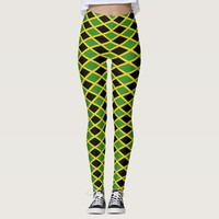 Leggings with flag of Jamaica