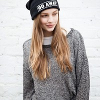 GO AWAY EMBROIDERY BEANIE