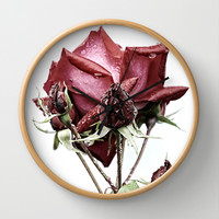 Rose FX Wall Clock by Karl Wilson Photography