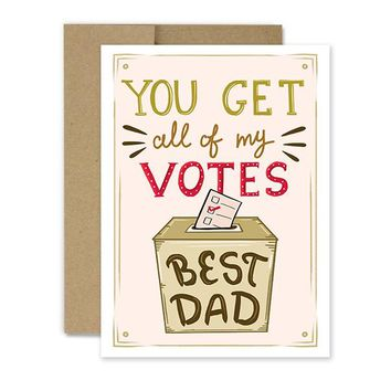 Voted Best Dad - Greeting Card
