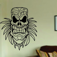 Tiki Skull Decal Sticker Wall Mural Art Graphic Vintage Baby Nursery Office