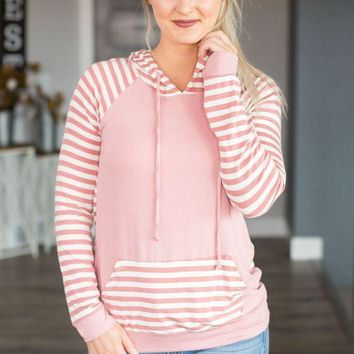 DCCKGE8 Wish Upon A Star Striped Hoodie- Multiple Options
