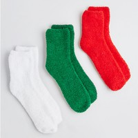 Plush Holiday Spirit Sock Trio