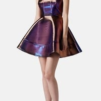 Topshop Metallic Skater Dress